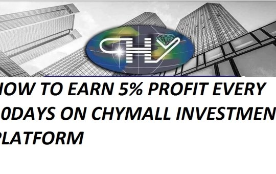 how to earn 5% profit every 10days on chymall investment
