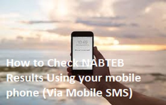 How to Check NABTEB Results Using your mobile phone (Via Mobile SMS)