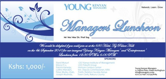 young kenyan managers