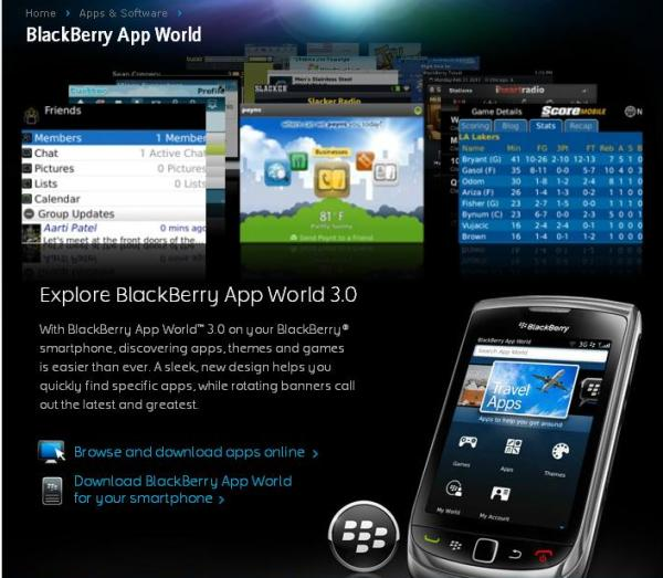 BlackBerry App World 3 0 now available for Blackberry users