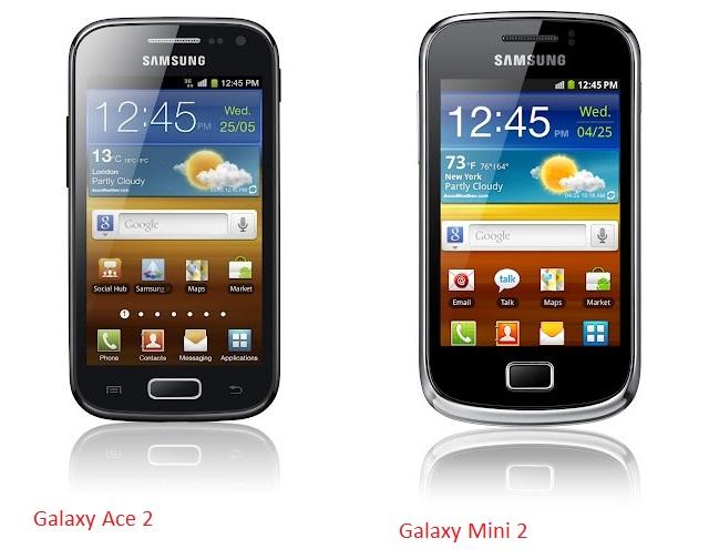 GALAXY Ace 2, Galaxy mini 2