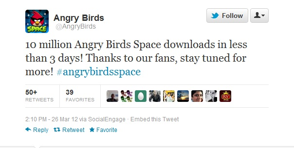 Angry Birds 10 million downloads