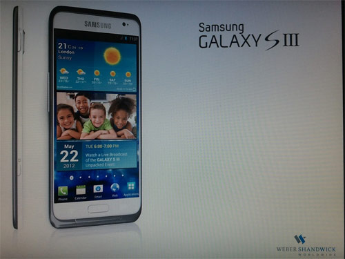 Samsung Galaxy S 3 leak