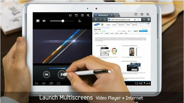 Galaxy Note 10.1 multitasking