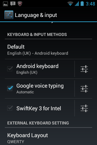 SwiftKey for Intel
