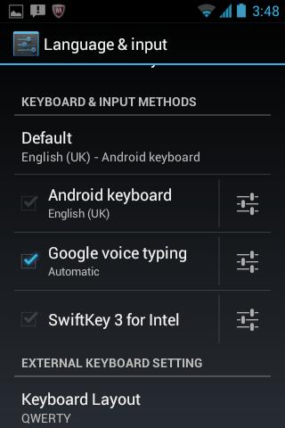 SwiftKey for Intel