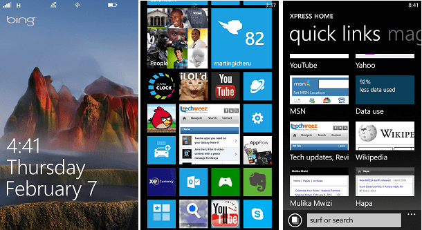 Lumia 920 screenshots