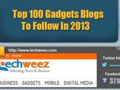 top100 Gadget blogs 2013