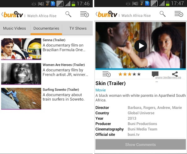 Buni TV Android