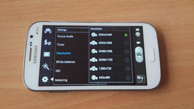 Galaxy Grand Camera controls
