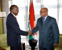 Kenya's President Uhuru Kenyatta and South African President Jacob Zuma
