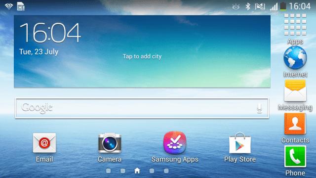 Galaxy Mega 5.8 Homescreen