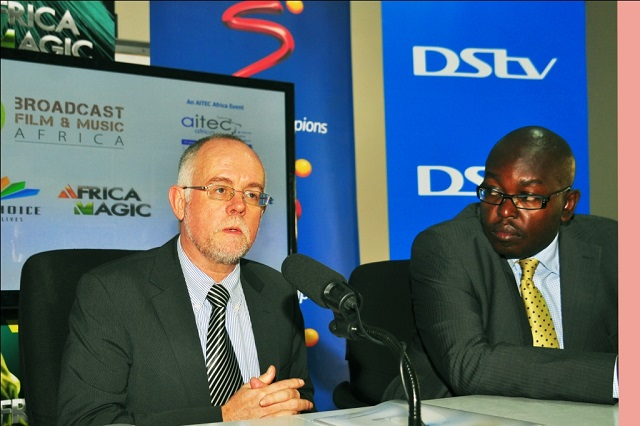 Sean Moroney, Chairman AITEC Africa and Danny Mucira, General Manager Multichoice East Africa