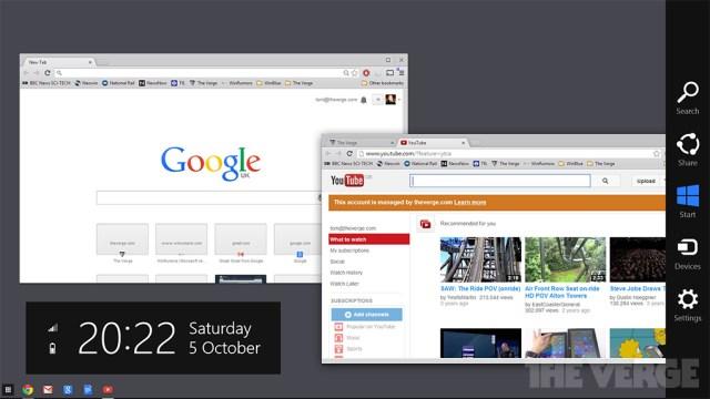 Chrome OS gets deeper Win 8 integration