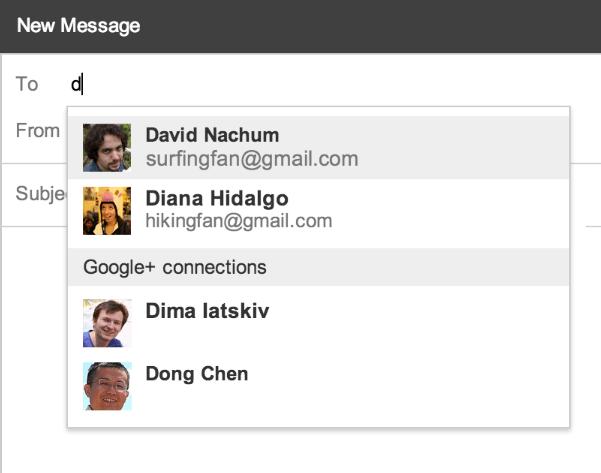 google plus integtration comes to gmail 2