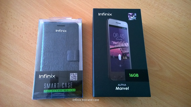 Infinix box and case