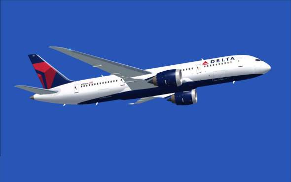 A Delta Airlines Boeing 787 jet. Delta is one of many airlines ferrying passengers to the US on a daily basis and the updated TSA security terms will likely affect its passengers