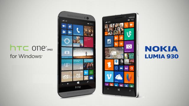 HTC One M8 versus Lumia 930