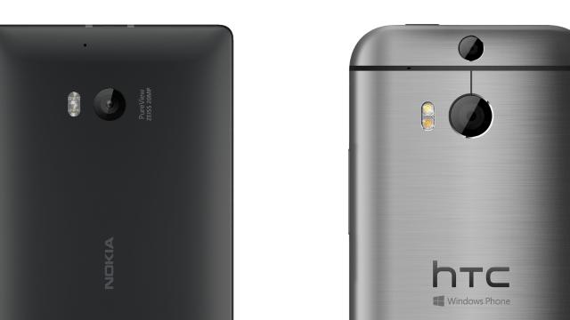 Nokia's Pureview 20MP versus HTC's 4MP UltraPixel Duo-Camera.