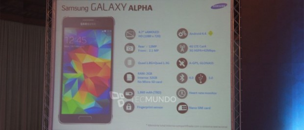 Galaxy alpha specifications