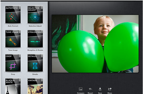 Editing Suit of a smartphone Camera App