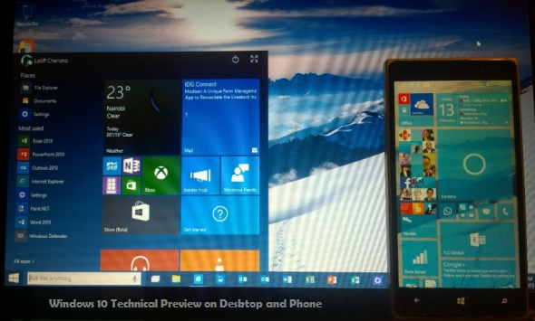 Windows 10 phone technical preview