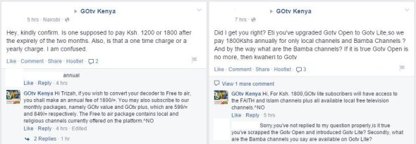 Go TV Kenya comments