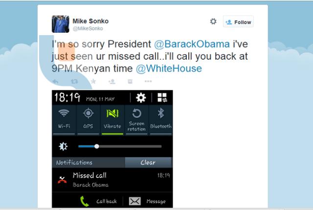 Mike Sonko Obama