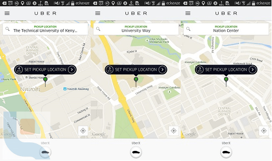 There were virtually no Uber rides in CBD from three different locations