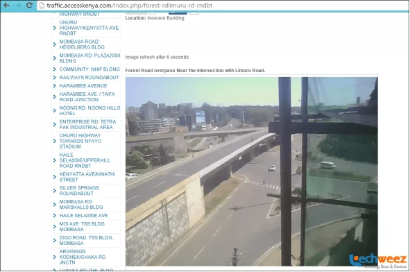 Access Kenya traffic cameras