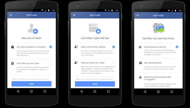 Facebook breakup tools