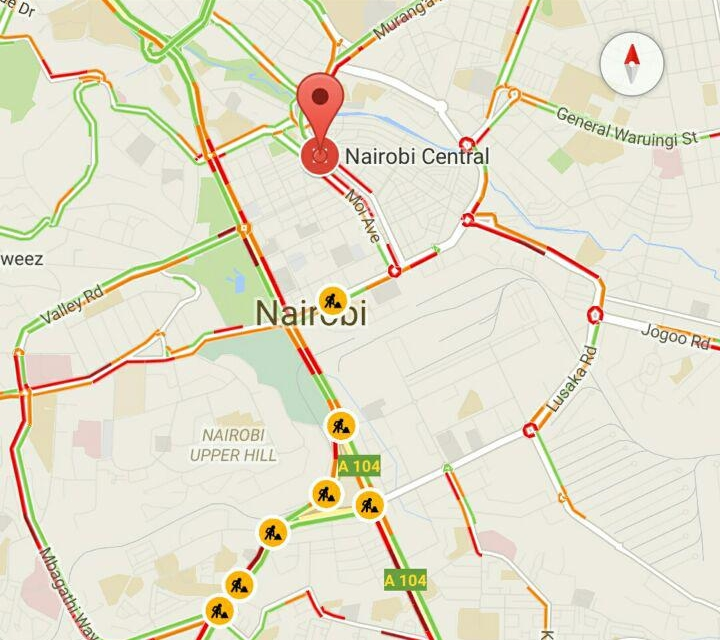 Google Seems To Be Testing Live Traffic Information For Nairobi In Maps