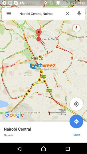 Google Maps traffic updae