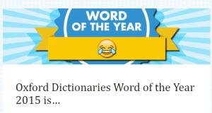Oxford word of the year emoji