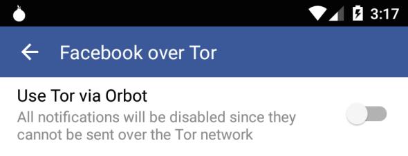 facebook via tor