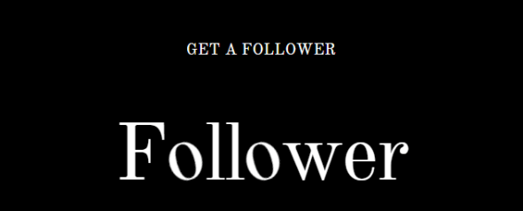 get a follower