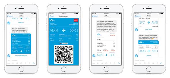KLM Facebook Messenger bot