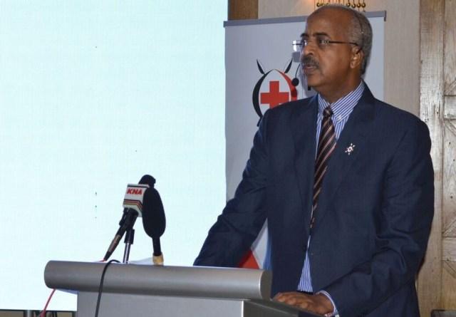 Secretary General Kenya Red Cross Society, Dr. Abbas Gullet