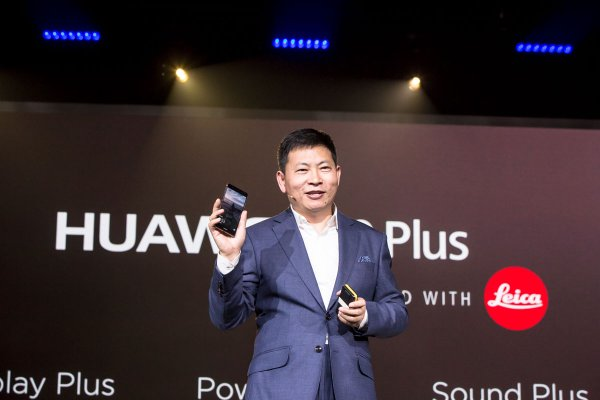 Huawei CEO Richard Yu at the launch of the Huawei P9