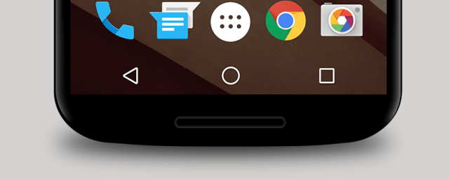 The current standard Android navigation buttons
