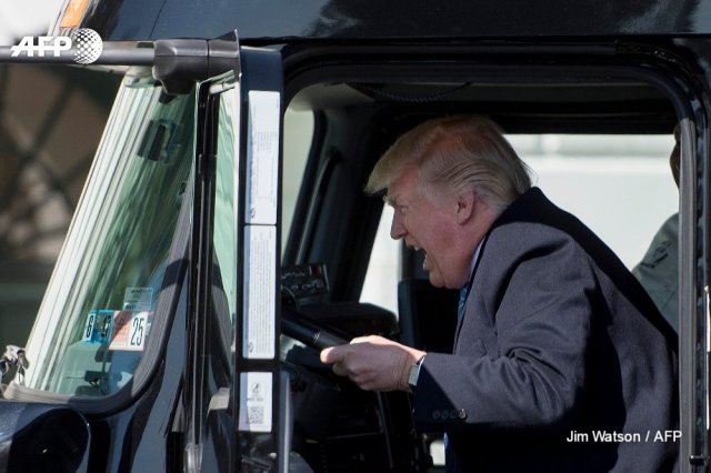Trump on a Truck
