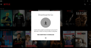 netflix offline playback windows 10