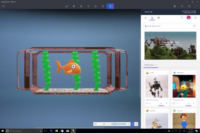 Windows 10 Creators 3D paint