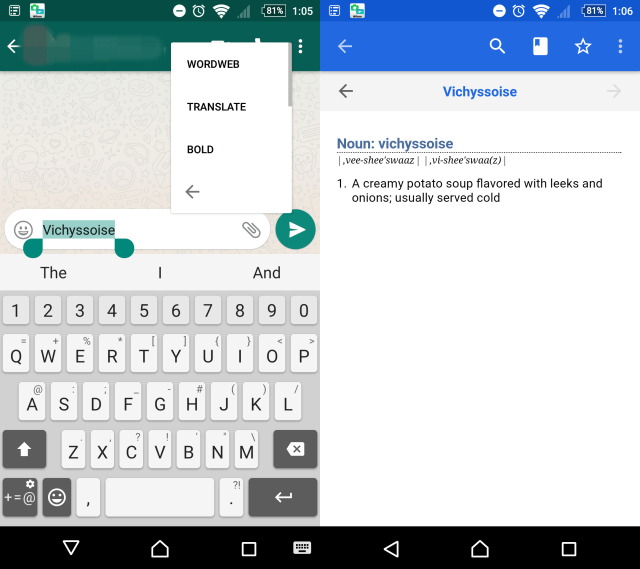 wordweb translation on whatsapp