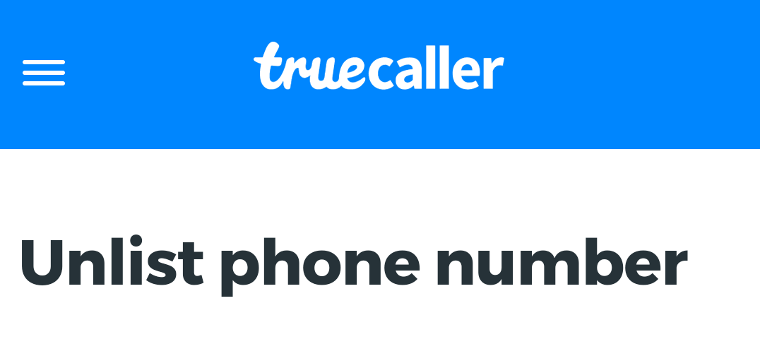 How To Delist Your Phone Number From Truecaller