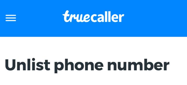 Truecaller unlist