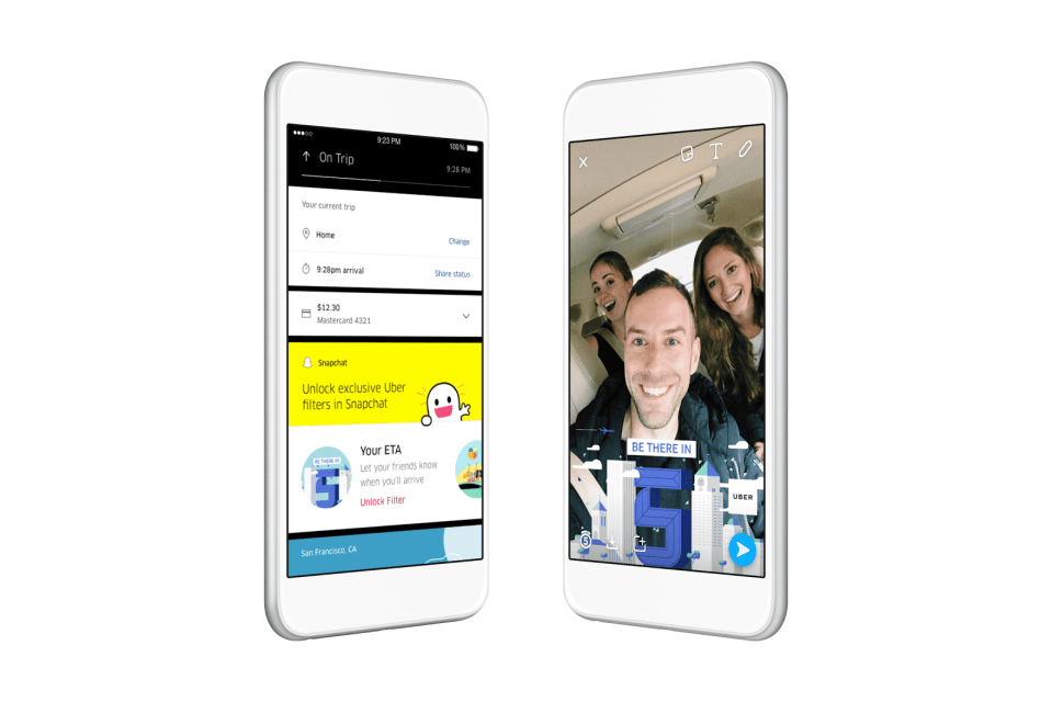 Uber Integrates Special Snapchat Filters For Riders In East