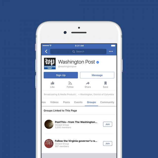 facebook page groups