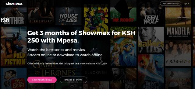 showmax mpesa discount