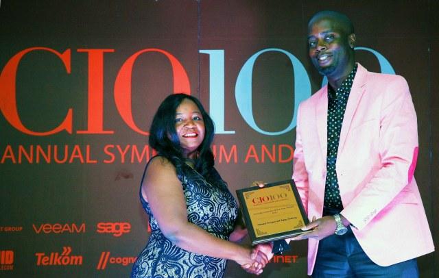 CIO East Africa CEO Laura Chite and NTSA's IT Head Dr Fernando Wangila
